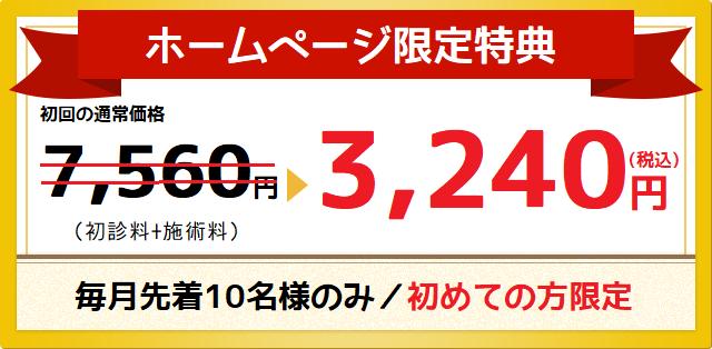 ホームページ限定価格